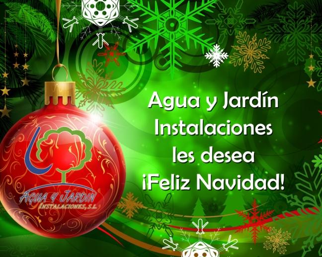 Agua y Jardín Instalaciones les desea ¡Feliz Navidad!
